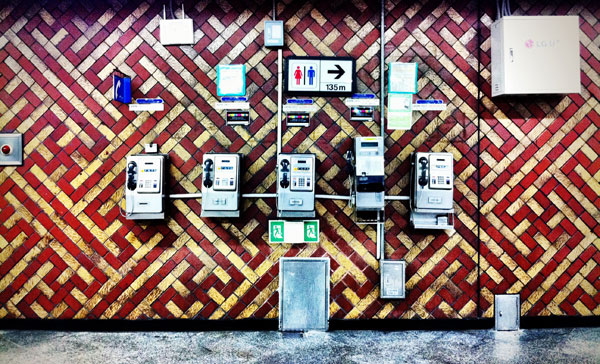 KOREAN SUBWAY PAYPHONES : PHOTO