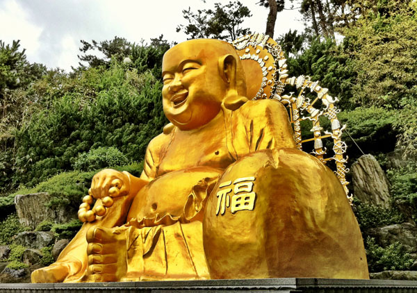 SMILING KOREAN BUDDHA : PHOTO