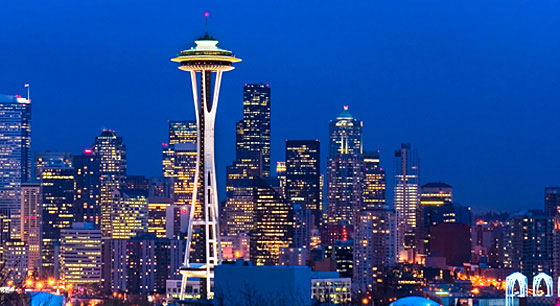 Travel to the Space Needle in Seatle