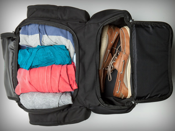 Front Compartments of the Tortuga Travel Backpack
