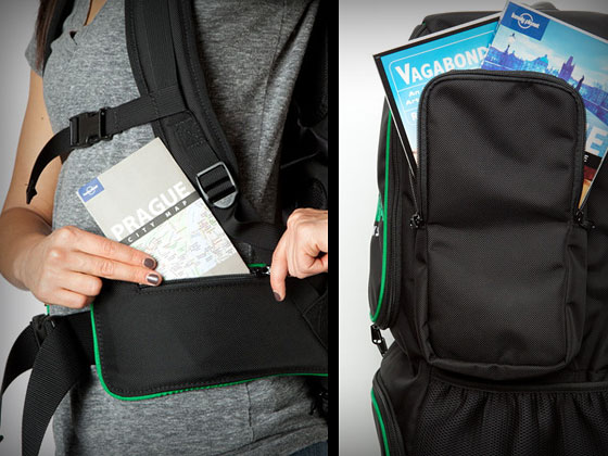Smart Pockets of the Tortuga Travel Backpack