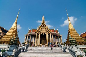 Backpacking travel the Grand Palace, Bangkok, Thailand