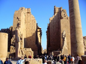 Backpacking Travel Temple of Karnak, Egypt