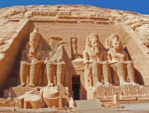 Backpacking travel Abu Simbel, Egypt