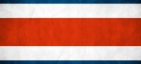 Costa Rica Backpacking Travel Flag