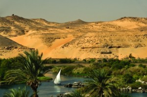 Backpacking travel Aswan, Egypt