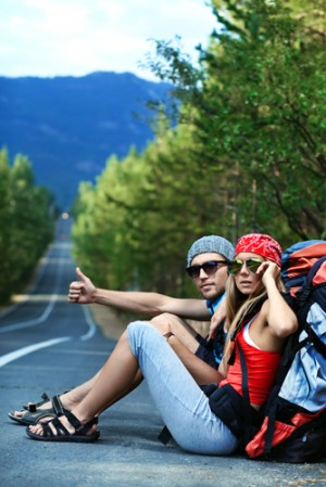 Backpacker Couple