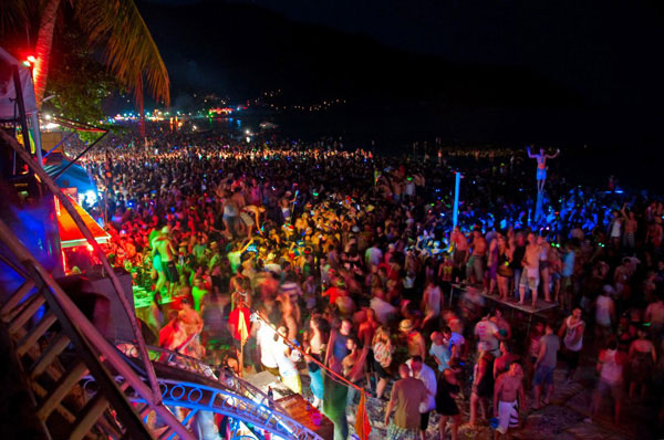 Full Moon Party at Koh Phangan, Thailand