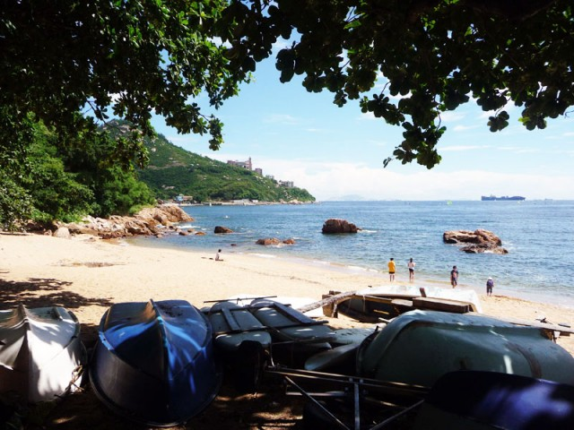 Backpacking Stanley Beach, Hong Kong