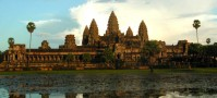 Backpacking Angkor Wat sunset, Cambodia