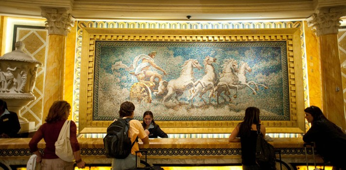 front desk caesars palace hotel casino