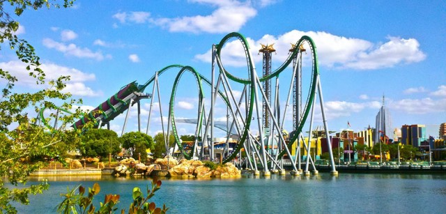 The Incredible Hulk Coaster at the Islands of Adventure