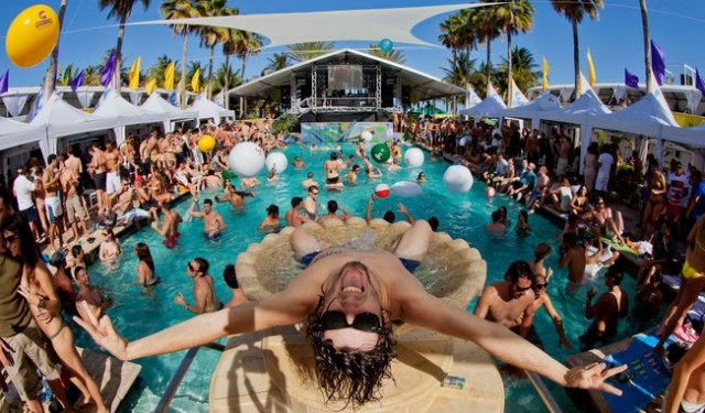 Spring Break Pool Parties in South Beach, Miami