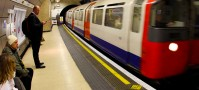 London underground tube backpackers