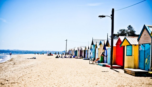 Travel to Brighton Beach, Melbourne, Australia
