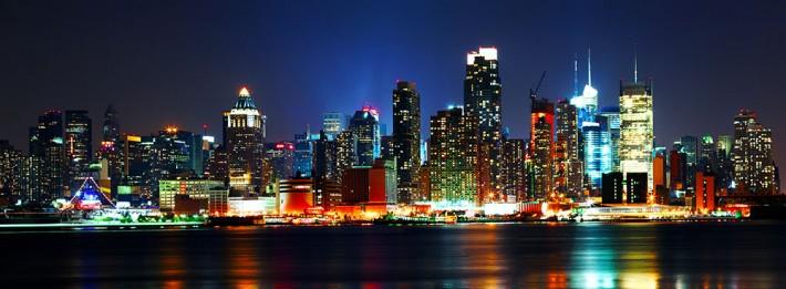 Manhattan New York City Skyline Night