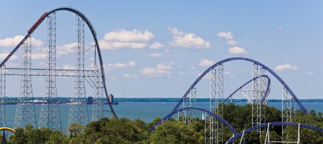 Millennium Force Roller Coaster at Cedar Point