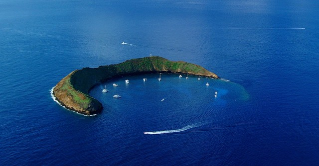 Diving Molokini Island, Maui, Hawaii