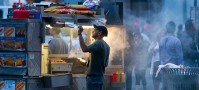 Street food stall in New York travel